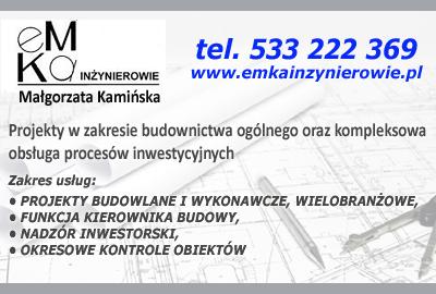 eMKa Inżynierowie - usługi architektoniczno - budowlane